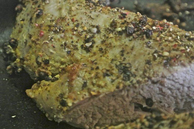 Cracked Peppercorn Dijon Pork Tenderloin