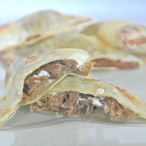 Baked Roast Beef and Cream Cheese Wontons
