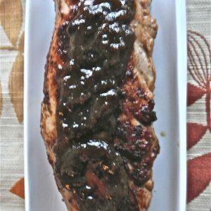 Maple-Mustard Glazed Pork Tenderloin with Apples