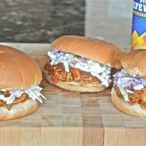 Beer-Can Crockpot Chicken Sandwiches