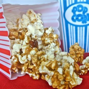 Bacorn {Bacon-Caramel Popcorn with Chile-Spiked Peanuts}