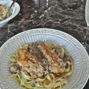 Champagne Chicken Pasta