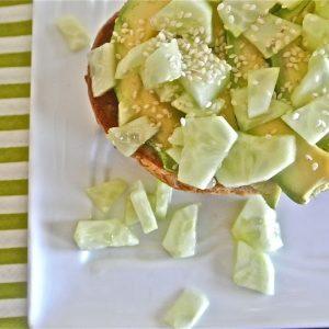 Avocado and Cucumber Tartine