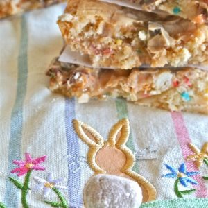 Cookie Butter Funfetti Triple Chip Bars