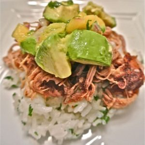Crock-Pot Jerk Pulled Pork with Caribbean Salsa