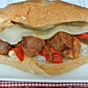 Sausage, Peppers, & Onions {Crock-Pot}