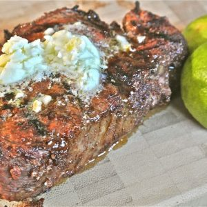 Grilled Chipotle-Rubbed Filets with Lime Butter