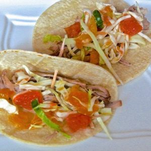 Pulled Pork Tacos with Citrus Slaw {Crock-pot}