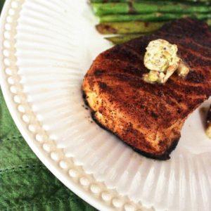 Crisp Sea Bass with Pistachio Butter