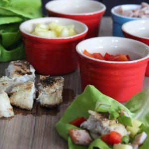 Hawaiian Mahi Lettuce Wraps