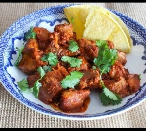 Spicy Pork with Guajillo Salsa