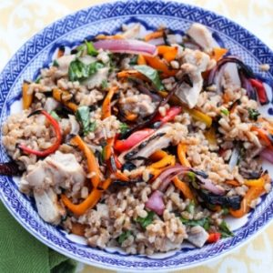 Grilled Chicken & Vegetable Farro Salad