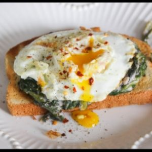 Lightened Up Creamed Spinach (for breakfast)