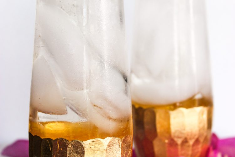 Rose Water & St. Germain Champagne Cocktail #BrunchWeek