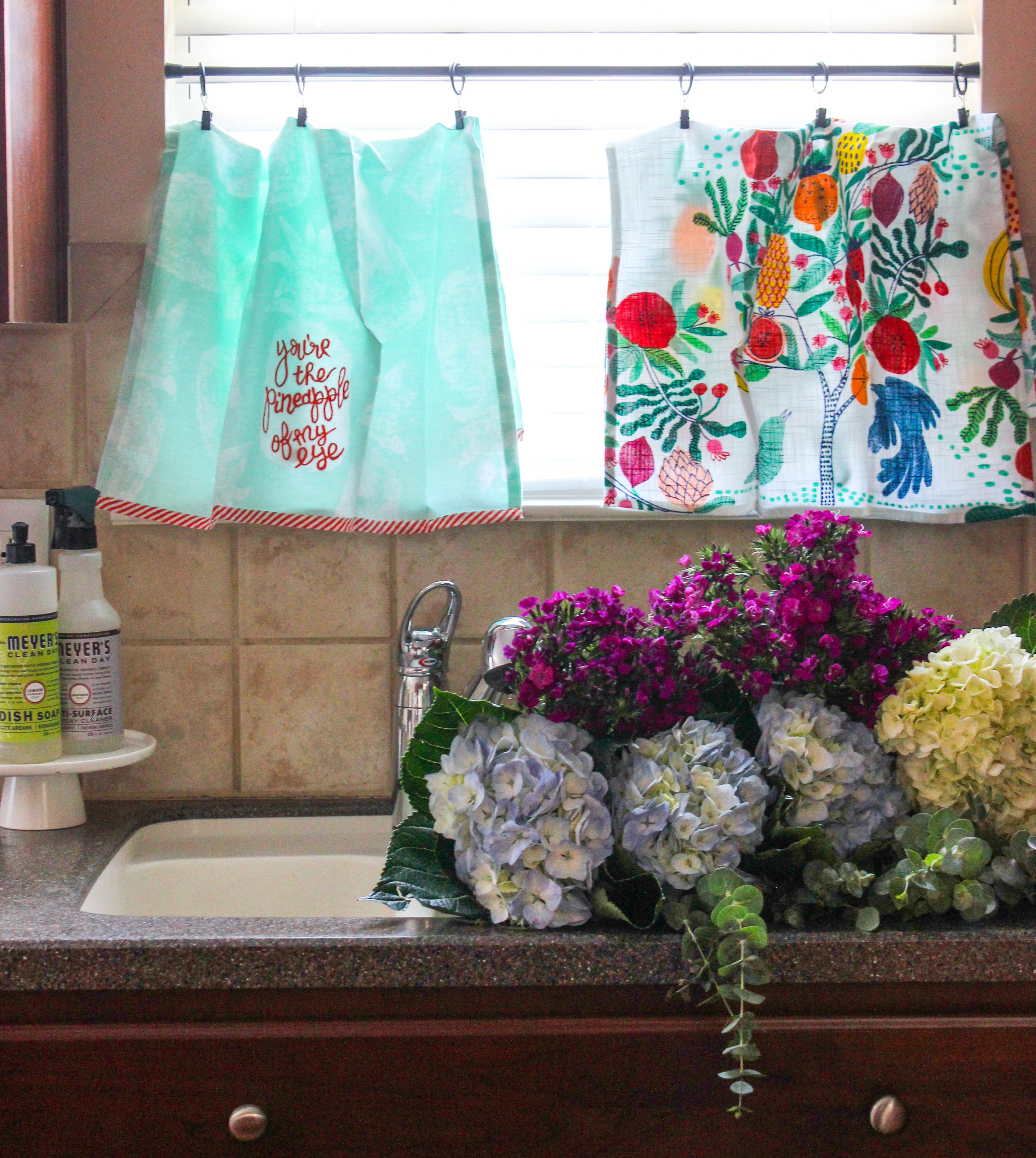 Tea Towel Kitchen Curtains: How To: Tea Towel Curtains For The Kitchen