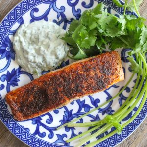 Mexican Spiced Salmon with Yogurt Sauce